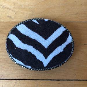 Accessories - Zebra print Belt buckle